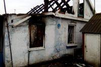 В тюменской области горел жилой дом