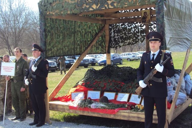 Останки солдат перезахоронили.