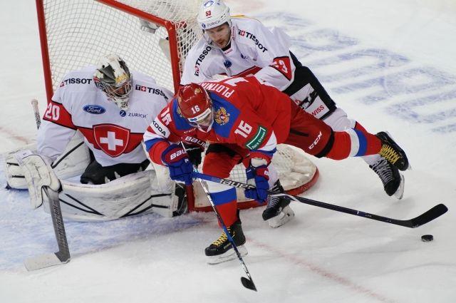 Русские хоккеисты победили швейцарцев вматче Еврочелленджа | Хоккей
