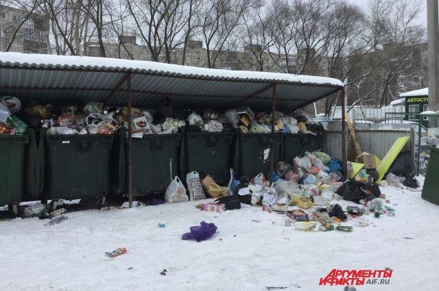Тело убитого спрятали в  мусорном контейнере.