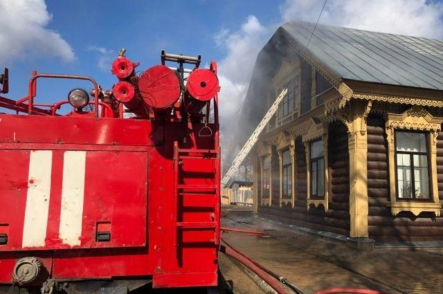 Пожар произошёл в Суксуне 18 апреля вечером.