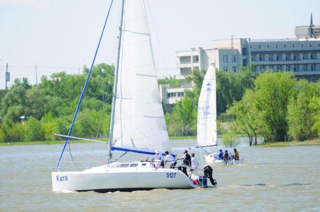 За последние годы в Омске увеличилось количество яхт.