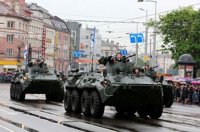 В калининградском параде Победы будут участвовать 70 единиц военной техники