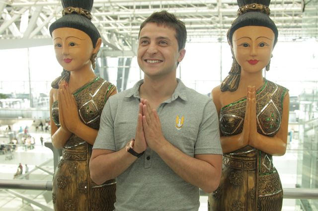 Владимир Зеленский на съемочной площадке фильма «Любовь в большом городе 2».