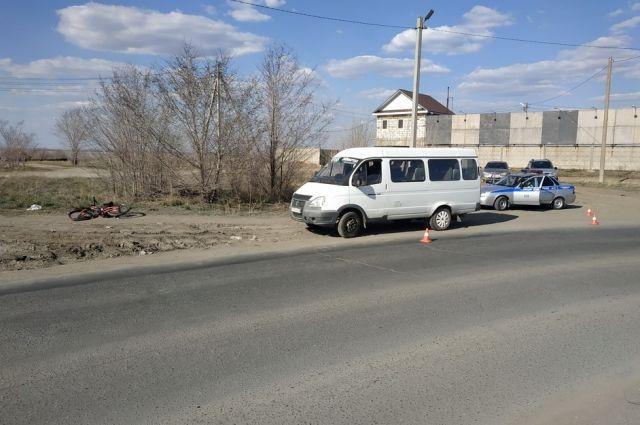 В Орске водитель «ГАЗели» сбил 9-летнего велосипедиста