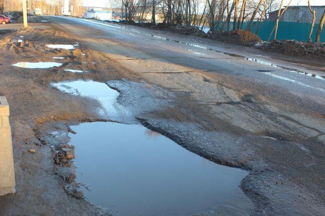 В Омске маленький мальчик пытался отремонтировать дорогу