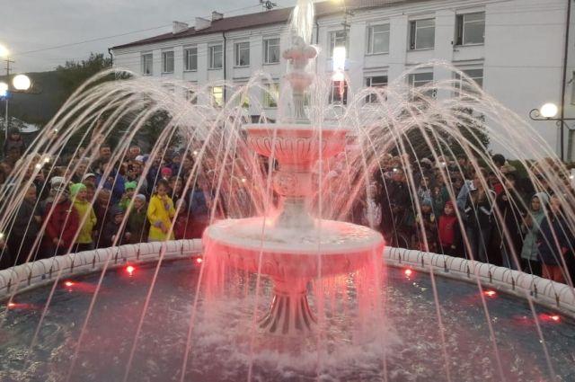 В прошлом году в Киренске построили и запустили первый в городе фонтан.