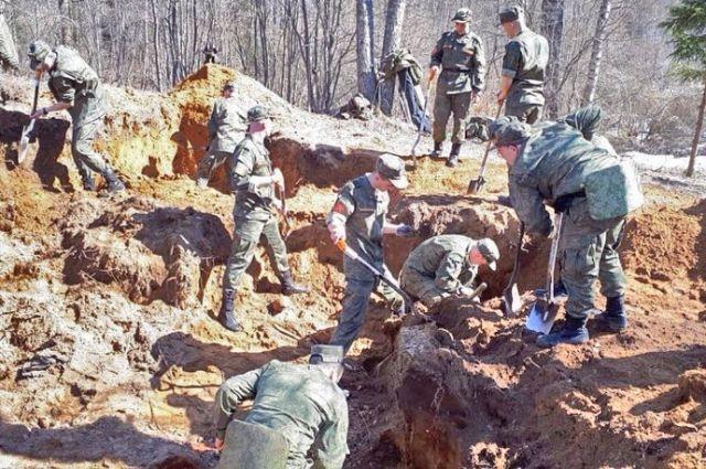 Во время каждой Вахты волонтёры находят боеприпасы и останки погибших воинов.