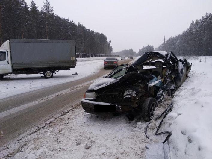 Водитель не придерживался безопасной дистанции.