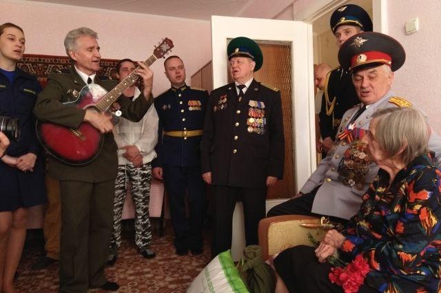 В гостях у ветерана  Мариловцевой Валентины Ивановны.