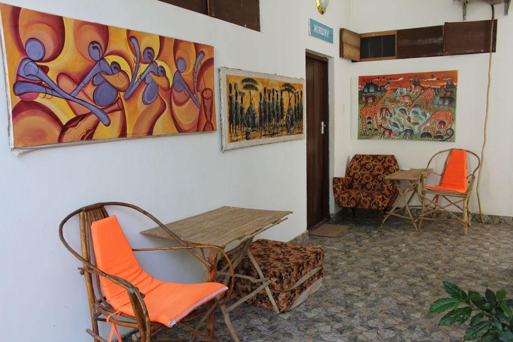 Африканская гостиница для иностранных туристов.