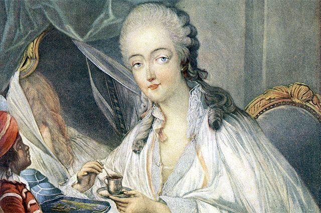 Графиня Дюбарри. Фрагмент портрета.