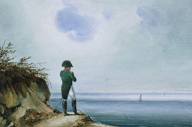 Наполеон на острове Св. Елены. Художник Зандманн.