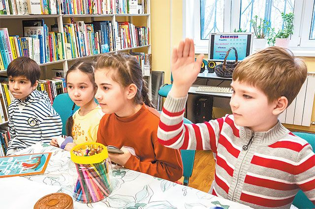Дети с интересом принимают участие в литературной викторине.
