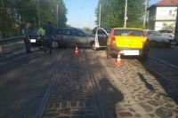 В Калининграде столкнулись две иномарки и Лада