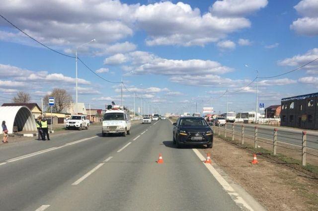 Под Оренбургом водитель Lexus сбил 9-летнего мальчика