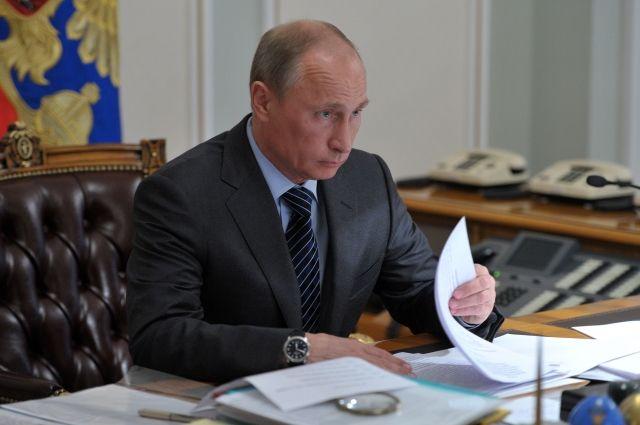 Владимир Путин подписал закон об«ипотечных каникулах»