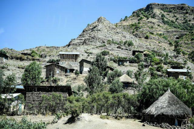 поселение в Эфиопии, архивное фото
