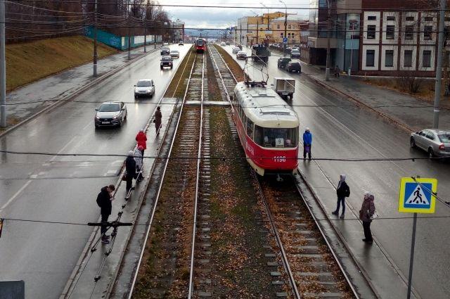 Два трамвайных маршрута не будут работать в Ижевске на текущей неделе