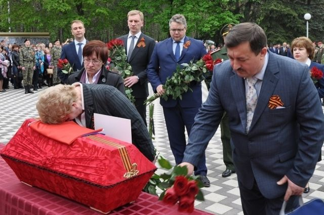 Захоронение без вести пропавшего красноармейца Петра Сопова.