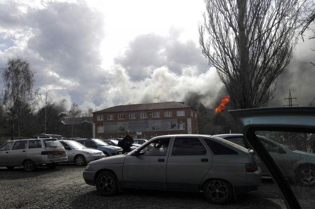 Сообщение о возгорании поступило в 16:50.