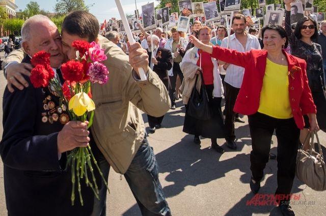 По традиции по Смоленску в День Победы пройдёт колонна «Бессмертного полка».