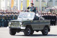 Торжественное прохождение подразделений Минобороны России и силовых структур Иркутского гарнизона начнётся в 11 утра на площади Сперанского.