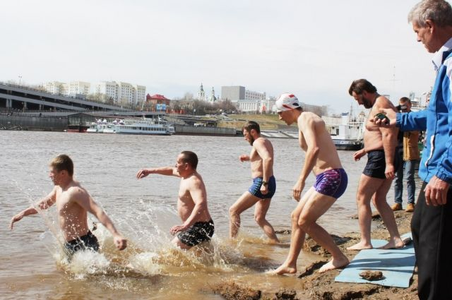 В Тюмени пройдет заплыв моржей в честь Дня Победы