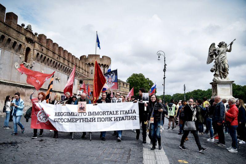 Шествие «Бессмертного полка» в Риме.