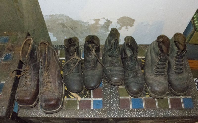 Обувь солдат.