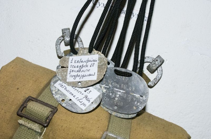 Медальоны солдат.