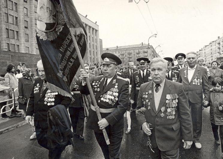 Ветераны на Параде Победы, 1989 г.