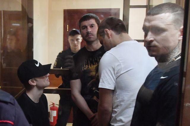 Павел Мамаев, Александр Кокорин, Александр Протасовицкий и Кирилл Кокорин (справа налево). 8 мая 2019 г.