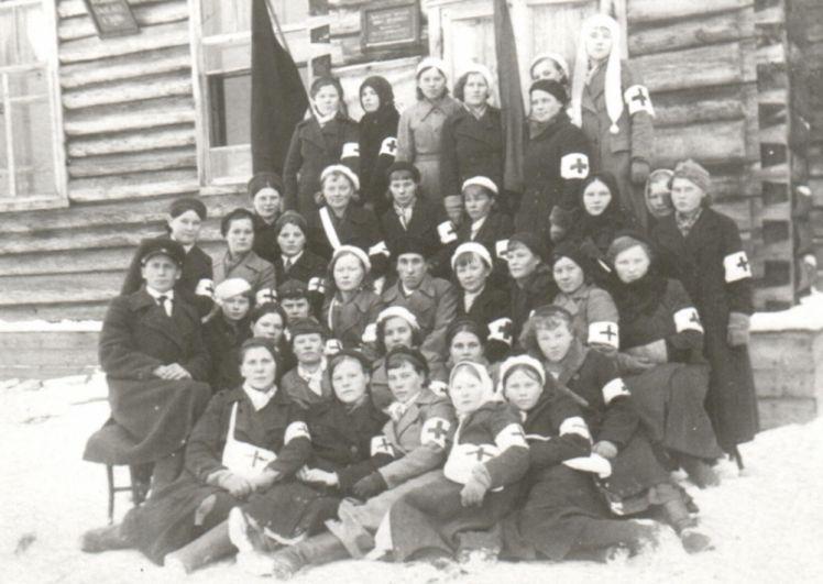 Курсы сандружинниц в селе Кослан, осень 1941 г.