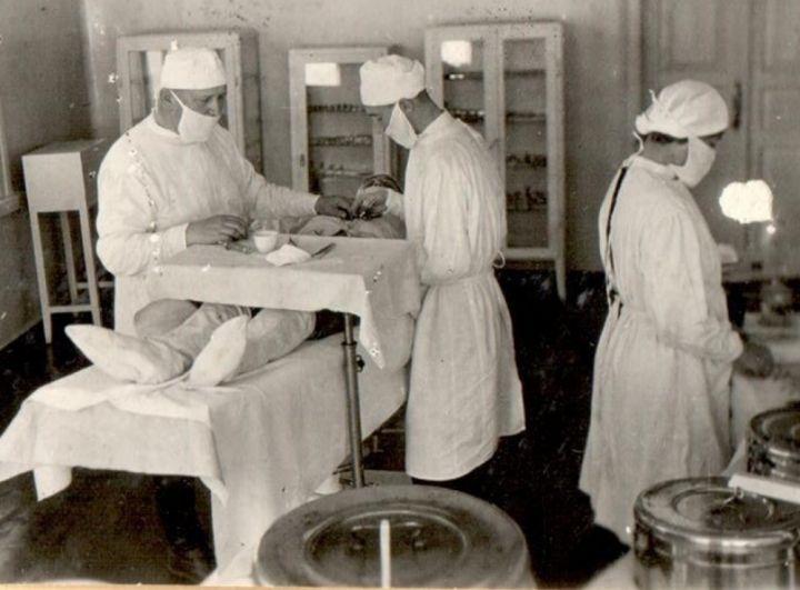 Сангородок Ухтокомбината: идёт операция, 1944 г.