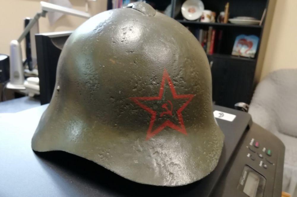 """Каску образца 1936 года называли """"Каска-халкинголка""""."""