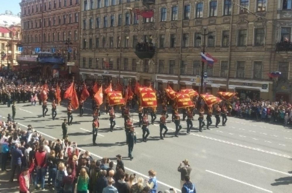 В Петербурге празднуют День Победы