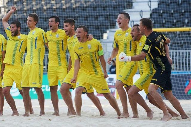 Сборная Украины по пляжному футболу обыграла Азербайджан