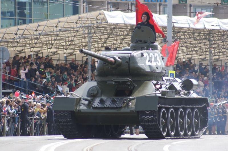 Легендарный Т-34 участвовавший в штурме Кёнигсберга.