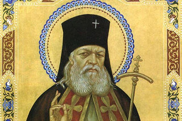 Святитель Лука, фрагмент иконы начала XXI века.