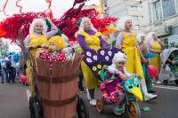13 лет проходил детский карнавал в Красноярске по пр. Мира.