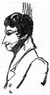 Портрет Грибоедова. Рисунок Пушкина, 1829.