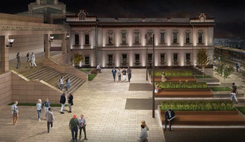 Сквер перед Историческим музеем.