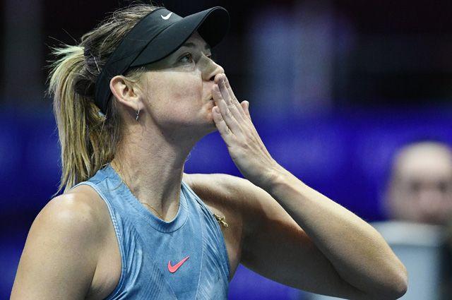 Мария Шарапова в матче первого круга женского одиночного разряда на турнире St.Petersburg Ladies Trophy 2019.