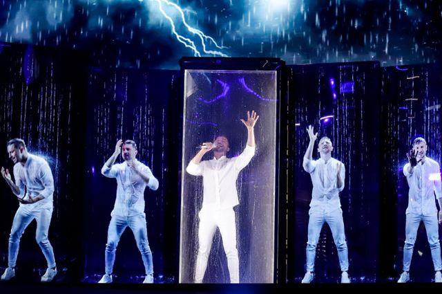 Выступление Сергея Лазарева на «Евровидении».