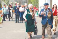 Ветераны на праздновании Дня Победы.