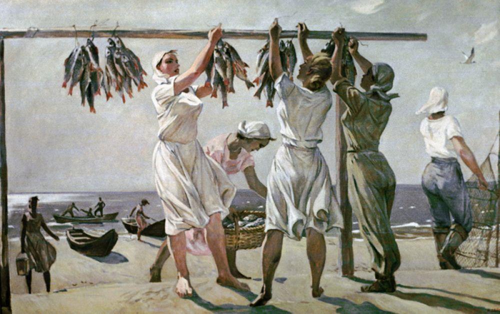 «У моря. Рыбачки» (1956).