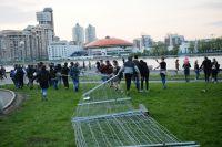 Участники акции против строительства храма в Екатеринбурге.