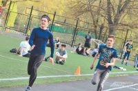 Межрайонные соревнования по лёгкой атлетике на территории школы № 384 им. Корнеева.