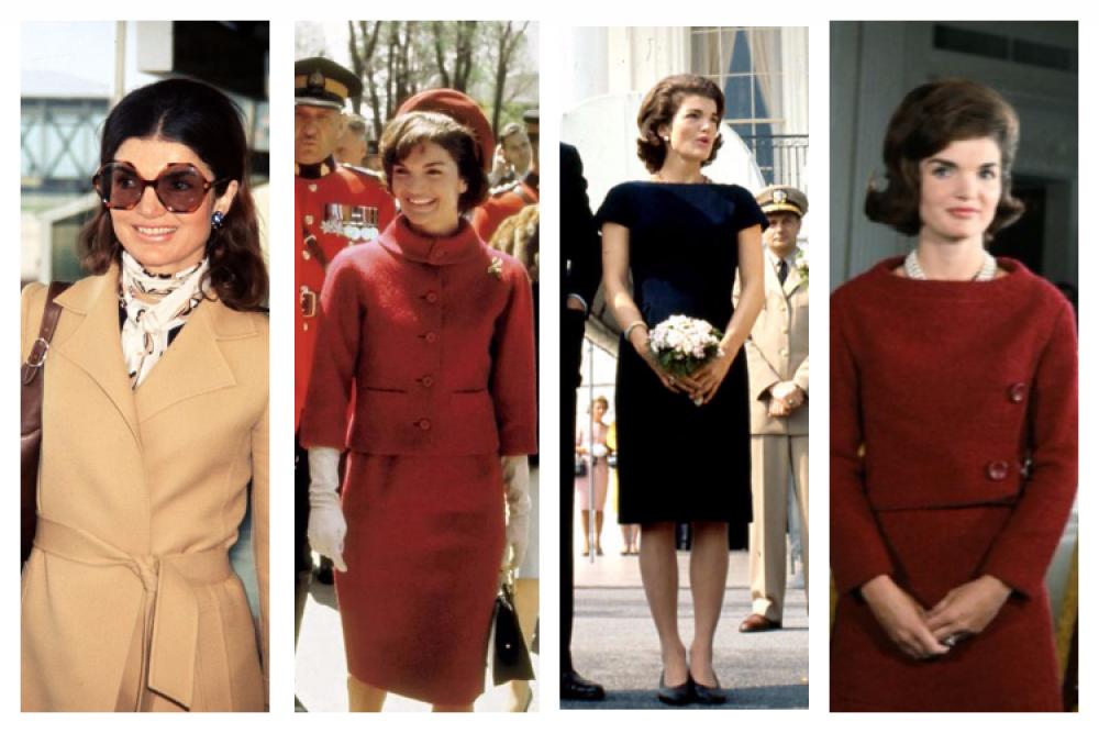 Здесь - все главные образы Жаклин Кеннеди. Даже строгие геометрические формы официальных костюмов первой леди Жаклин смогла сочетать столь безупречно, что уже в начале 1960-х стала музой некоторых дизайнеров. В частности, платья и костюмы для нее в разное время создавали Кристиан Диор, Шанель и другие.
